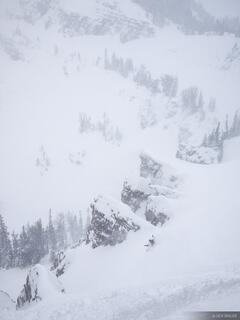snowboarding, chute, Jackson Hole, Wyoming