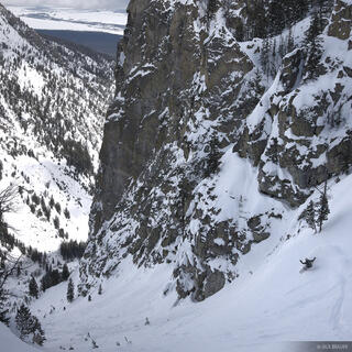 snowboarding, Jackson Hole, Wyoming, Endless Couloir