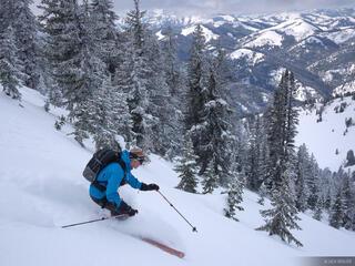 Taylor Mountain, Snake River Range, Jackson Hole, Wyoming, skiing
