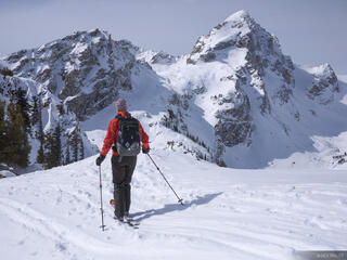 Buck Mountain, Tetons, Wyoming, skiing