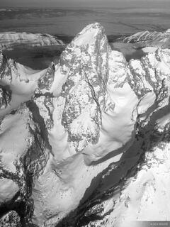 Grand Teton Aerial #1 B/W