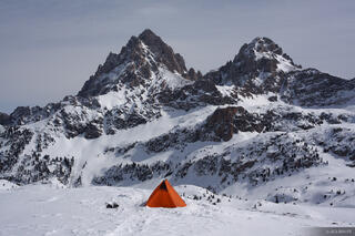 tent, Grand Teton, Middle Teton, Tetons, Wyoming, Hurricane Pass