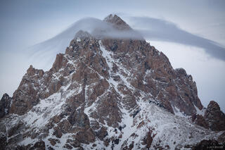 Tetons,Wyoming, Grand Teton, cloud