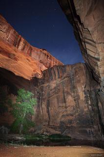 moonlight, flashlight painting, Canyon, Escalante, Utah, Grand Staircase-Escalante National Monument