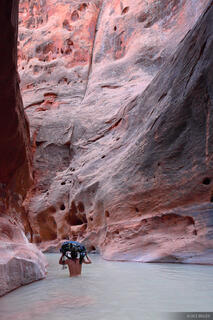 Escalante, wading, Utah, Glen Canyon National Recreation Area