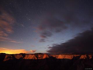 Zion National Park, moonlight, stars, Utah