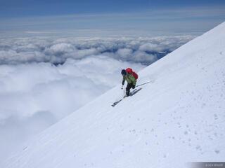 skiing, Mt. Adams, Washington