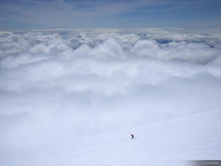 Skiing Into Clouds