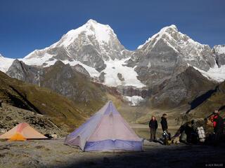 Cordillera Huayhuash, Peru, South America, tent