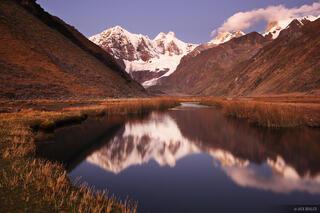 Jirishanca, Cordillera Huayhuash, Peru, Laguna Jahuacocha, reflection
