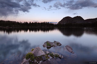 Flint Lake, Weminuche Wilderness, Colorado, reflection, dusk