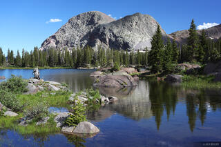 Flint Lakes, Weminuche Wilderness, Colorado, July, summer