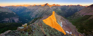 Needle Mountains, San Juan Mountains, Vallecito, Colorado, sunrise, panorama