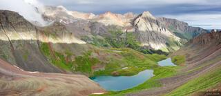 Blue Lakes Pass Panorama