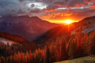 sunset, San Juan Mountains, Colorado