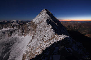 Capitol Peak, Elk Mountains, Colorado, moonlight