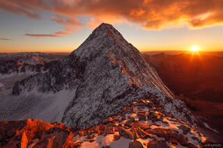 Capitol Peak, sunset, Elk Mountains, Colorado, K2