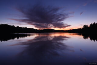 Grand Mesa, Colorado, sunset, reflection