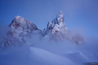 Cimon della Pala, Dolomites, Italy, winter, Alps