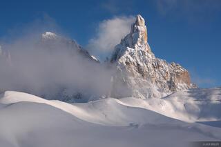 Cimon della Pala, snowy, Dolomites, Italy, December, Alps