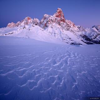 Cimon della Pala, Dolomites, Italy, December, winter