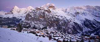 Mürren, Jungfrau, Eiger, Mönch, Jungfrau, Bernese Alps, Switzerland, panorama, Alps