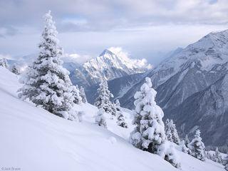 Mayrhofen, Austria, December, snowy