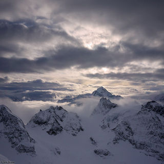 Engelberg, Titlis, Switzerland, clouds, january, Fleckistock