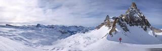Hasenstock Skier Panorama