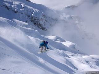 Steinberg, Glacier, Engelberg, Switzerland, snowboarding