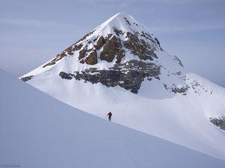 Engelberger Rotstock, Switzerland, skiing