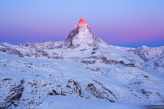Matterhorn, alpenglow, sunrise, Zermatt, Switzerland, Gornergrat, Pennine
