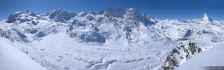 Gornergrat, Gornergletscher, glacier, panorama, Zermatt, Switzerland, winter, rugged, monte rosa, monterosa, march