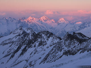 Oberaarjoch, sunset, Bernese Oberland, Switzerland