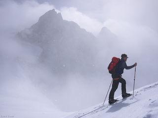 Wyssnollen, Fiescher Gabelhorn, skiing, Bernese Oberland, Switzerland