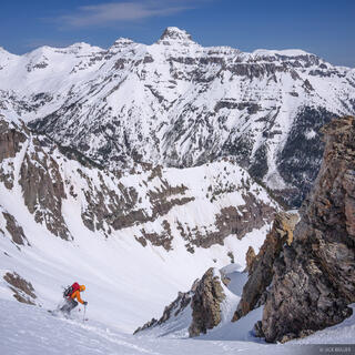 Potosi Peak, United States Mountain, Sneffels Range, San Juan Mountains, Colorado, May, skiing