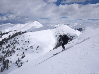 skiing, powder, San Juan Mountains, Colorado, May