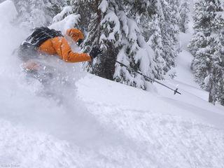 Skiing, face shots, San Juans, Colorado, May