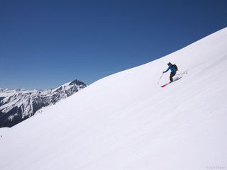 Skiing, San Juan Mountains, Colorado, May