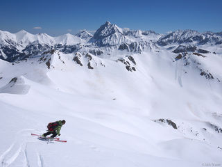 Skiing, Capitol Peak, Elk Mountains, Colorado, May