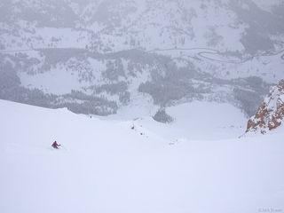 Skiing, powder, San Juan Mountains, May