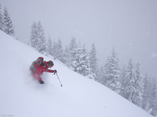 powder, skiing, May, San Juans, Colorado