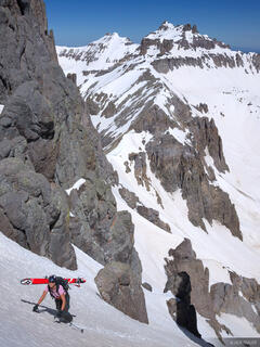 Potosi Peak, couloir, Teakettle, San Juan Mountains, Colorado, June