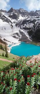 Blue Lake Vertical Panorama