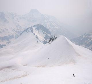 skiing, june, San Juans, Colorado, smoke, smoky