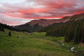 Big Blue Creek, sunset, Uncompahgre Wilderness, Colorado