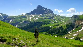 Hiking towards Uncompahgre Peak