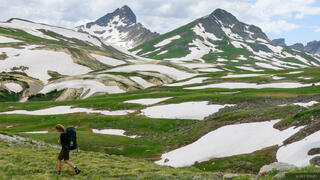 hiking, tundra, Wetterhorn Peak, San Juan Mountains, Colorado