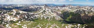 Uncompahgre Peak, summit, panorama, San Juan Mountains, Colorado, Wetterhorn Peak