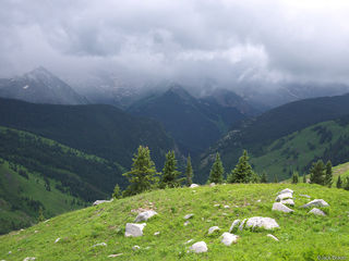 Lead King Basin, Elk Mountains, Colorado, stormy, Maroon Bells-Snowmass Wilderness